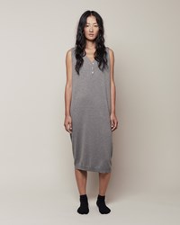 La Garconne Moderne Henley Dress Heather Grey