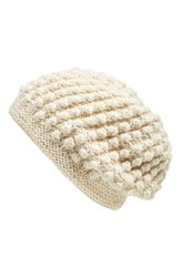 Women's Nirvanna Designs 'Popcorn' Knit Slouch Beanie White