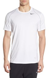 Nike Men's 'Pro Cool Compression' Fitted Dri Fit T Shirt White Black
