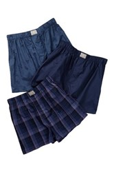 Lucky Brand Assorted Woven Boxers 3 Pack Blue