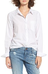 Women's Bp. Cotton Blend Button Down Shirt