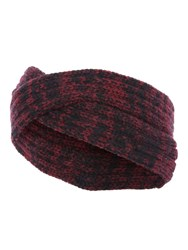 Jane Norman Red And Black Marl Knitted Twist Headband