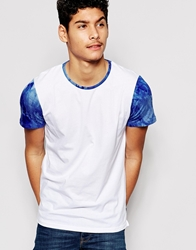 Another Influence Tie Dye Sleeve T Shirt White