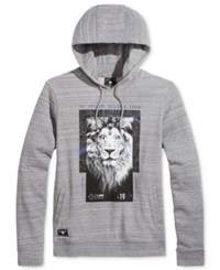 Lrg Men's Graphic Print Hoodie Charcoal Heather