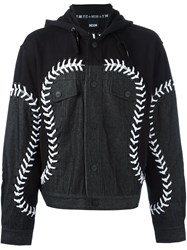 Ktz 'Baseball' Denim Jacket Black