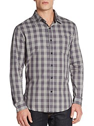 Sovereign Code Regular Fit Hamsted Checkered Sportshirt Charcoal