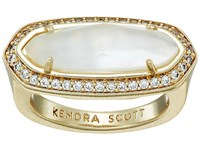 Kendra Scott Arielle Ring Gold Ivory Mother Of Pearl Ring