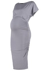 Isabella Oliver Eliot Jersey Dress Dove Grey Mottled Grey