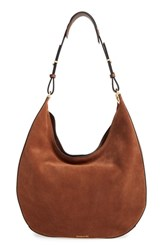 Louise Et Cie 'Alis' Leather Hobo Brown Brentwood