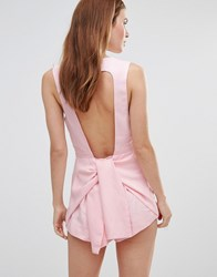 Style Stalker Stylestalker Cut Out Back Playsuit Pale Pink