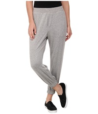 Hue Chill Jersey Capri Medium Heather Grey Women's Casual Pants Gray