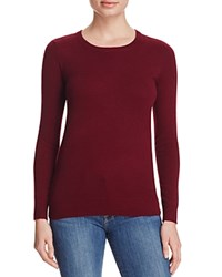 Bloomingdale's C By Crewneck Cashmere Sweater Cabernet