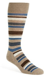 Men's Nordstrom Men's Shop 'Cushion Foot' Stripe Socks 3 For 30