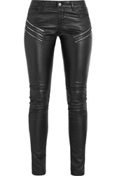 Saint Laurent Leather Skinny Pants Black