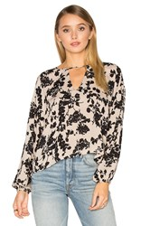 Amuse Society Winslow Woven Top Taupe