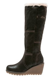 S.Oliver Wedge Boots Mocca Dark Brown