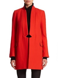 Nicholas Wool And Cashmere Open Front Coat Red