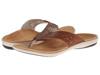 Spenco Crystal Thong Whiskey Women's Toe Open Shoes Brown