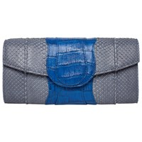 Khirma Eliazov Lindsay Clutch Grey And Cobalt