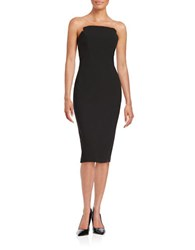 Jill Stuart Strapless Sheath Dress Black