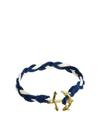 Asos Anchor Bracelet With Gold Anchor