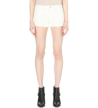 Allsaints Sasha Frayed Denim Shorts White