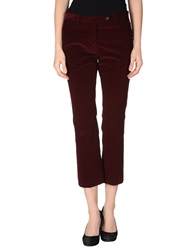 Mauro Grifoni Casual Pants Maroon