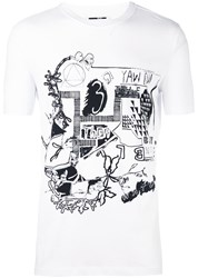 Mcq By Alexander Mcqueen Graphic Print T Shirt White