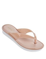 Melissa New High Platform Thong Sandals Pink