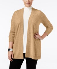 Charter Club Plus Size Cashmere Duster Cardigan Only At Macy's Heather Camel