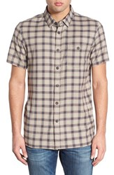 Men's Element Regular Fit Plaid Woven Shirt Stone Grey