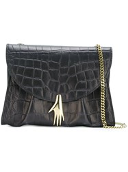 Petar Petrov 'Move It' Lizardskin Effect Cross Body Bag Black