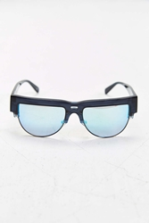 Established Eyewear Flat Brow Round Sunglasses Black