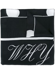 Mcq By Alexander Mcqueen Calligraphy Print Scarf Black