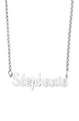 Argentovivo Personalized Script Name Necklace Silver