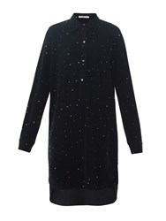 Christopher Kane Crystal Embellished Crepe Dress