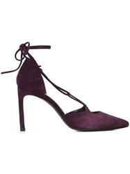 Stuart Weitzman Sling Back Pumps Pink And Purple