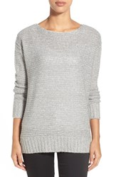 Women's Rd Style Marled High Low Sweater Grey Twist