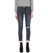 Frame Stagger Skinny High Rise Released Hem Jeans Anchorage