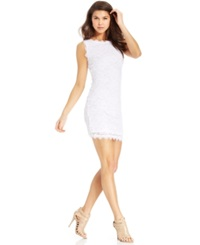 Jump Juniors' Sleeveless Lace Dress Ivory