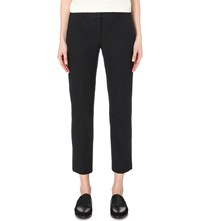 Theory Izelle Slim Fit Stretch Twill Trousers Navy