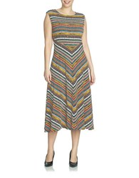 Chaus Cap Sleeve Wild Procession Maxi Dress Multi