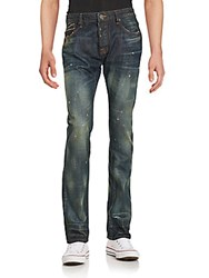 Cult Of Individuality Straight Leg Distressed Jeans Henna
