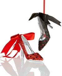 Holiday Lane Set Of 2 Resin Shoe Ornaments Only At Macy's