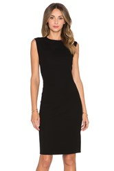 Vince Rib Pencil Dress Black