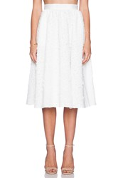 Sam Edelman Full Mid Length Skirt White