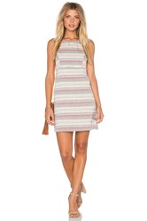 Bcbgeneration Crochet Stripe Dress Ivory
