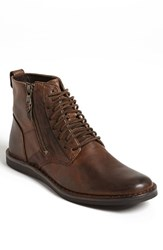 John Varvatos Men's Star Usa 'Barrett' Plain Toe Boot Mocha Leather