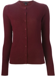 Marc By Marc Jacobs Fitted Cardigan Red