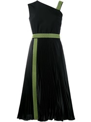Christopher Kane Studded One Shoulder Dress Black